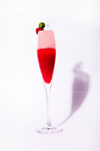 Raspberry-Apple Champagne Slushie