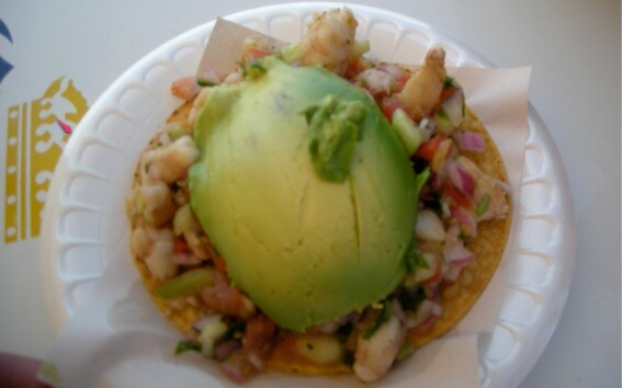 shrimp ceviche on plate yum