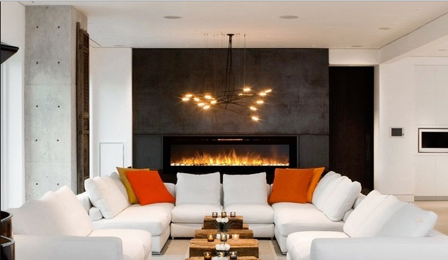 "Most modern style homes could definitely use a little more ""cozy and warm"". When a wood burning fireplace is not an option"