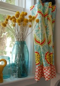 tropical kitchen curtain